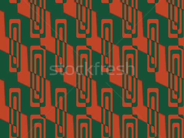 Retro 3D groene Rood zigzag gesneden Stockfoto © Zebra-Finch