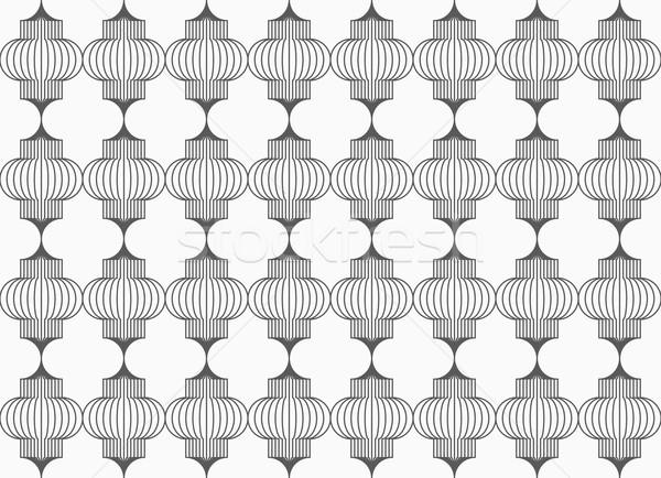 Slim gray vertical Chinese lanterns grid Stock photo © Zebra-Finch
