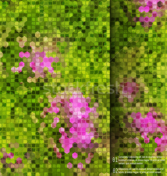 Blurred garden flowers square mosaic  template Stock photo © Zebra-Finch