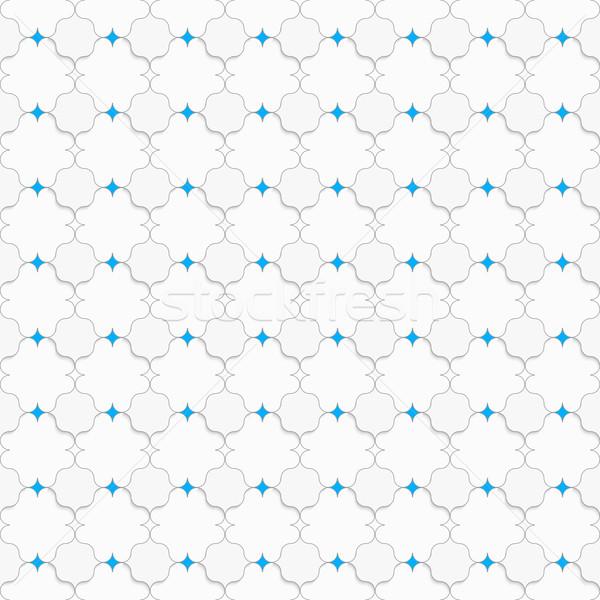 Színes kék négyzetek fehér végtelenített mértani Stock fotó © Zebra-Finch
