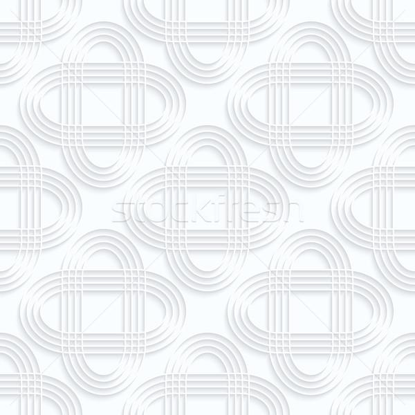 Blanco papel a rayas geométrico 3D Foto stock © Zebra-Finch