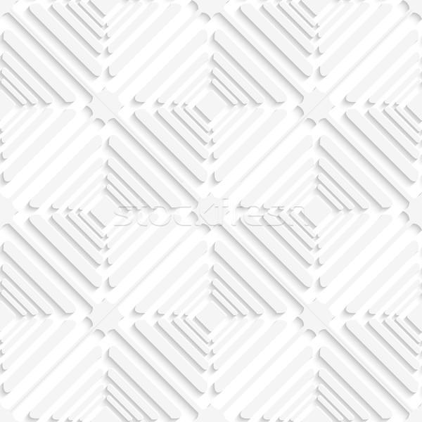 Diagonal white offset squares pattern Stock photo © Zebra-Finch