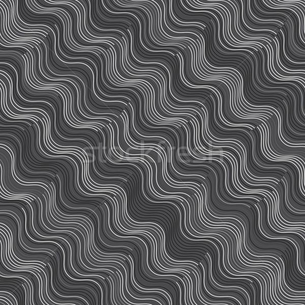 орнамент серый белый диагональ волнистый Сток-фото © Zebra-Finch