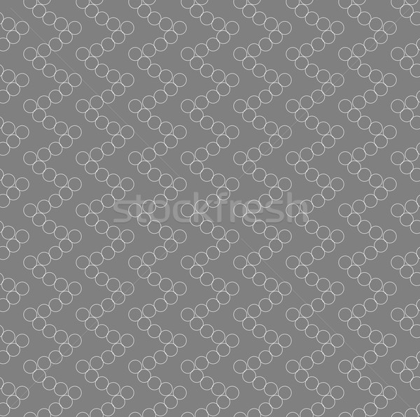 Monochrome pattern with many intersecting circles forming spiky  Stock photo © Zebra-Finch