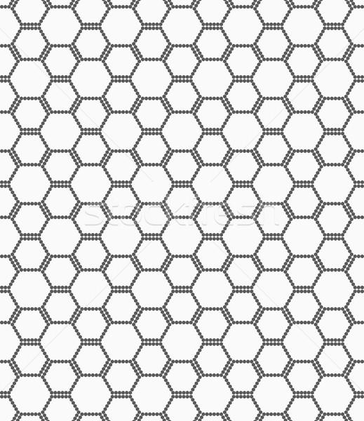 Flat gray with hexagonal bee grid Stock photo © Zebra-Finch