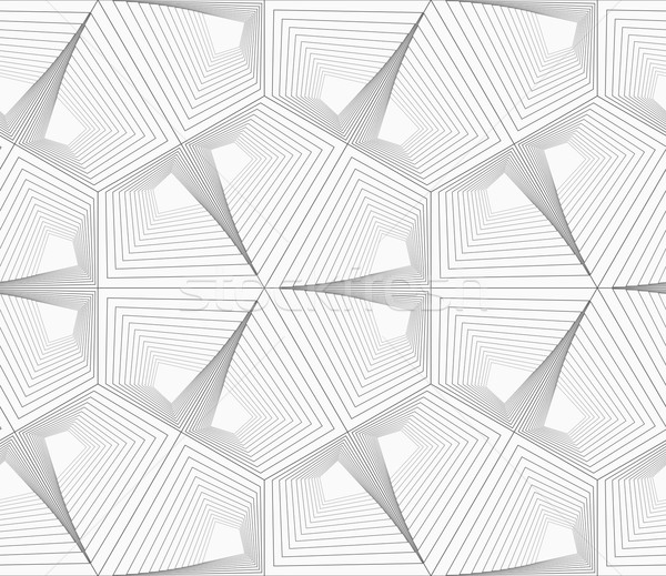 Gri çizgili tek renkli soyut geometrik model Stok fotoğraf © Zebra-Finch
