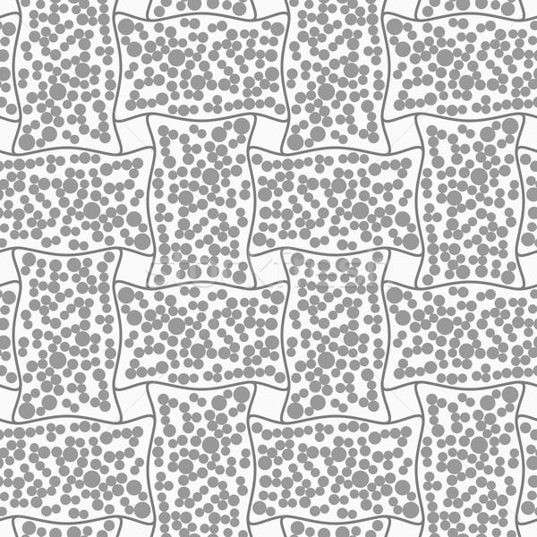 Pointillé rectangle résumé géométrique gris Photo stock © Zebra-Finch