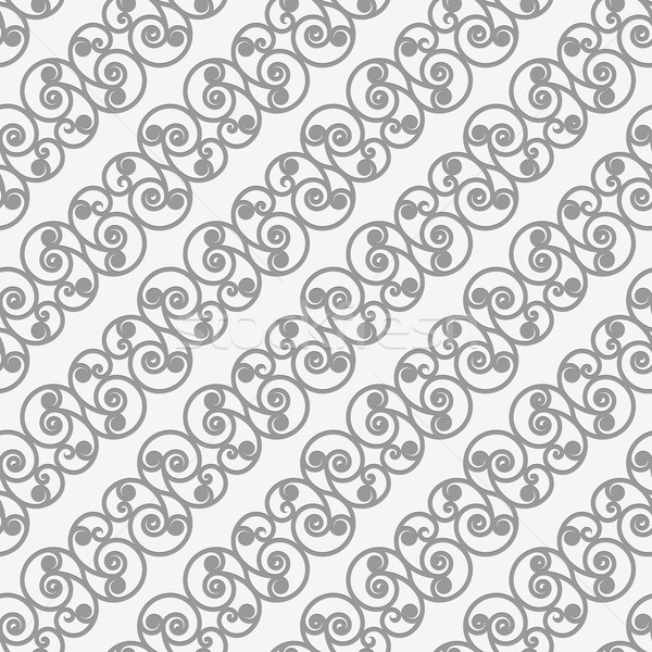 Perforated diagonal spiral flourish shapes small Stock photo © Zebra-Finch