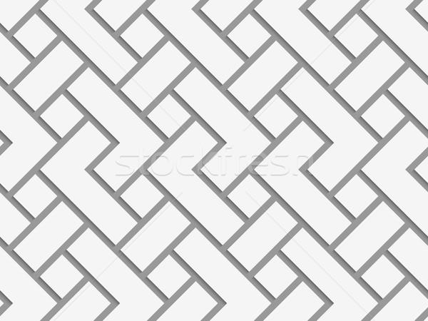 長方形の グリッド 幾何学的な 現代 モノクロ 3D ストックフォト © Zebra-Finch