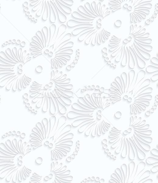 Papel florescer rasgar gotas geométrico Foto stock © Zebra-Finch