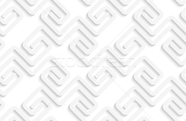 White 3D striped chevron Stock photo © Zebra-Finch