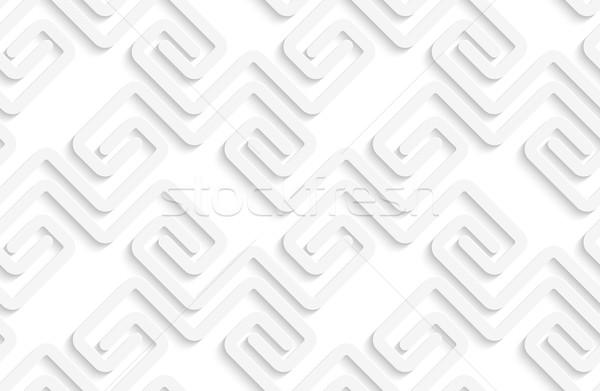 Beyaz 3D çizgili geometrik modern tek renkli Stok fotoğraf © Zebra-Finch