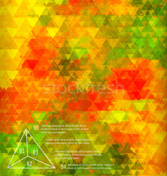 Blurred golden poppy triangle mosaic template Stock photo © Zebra-Finch