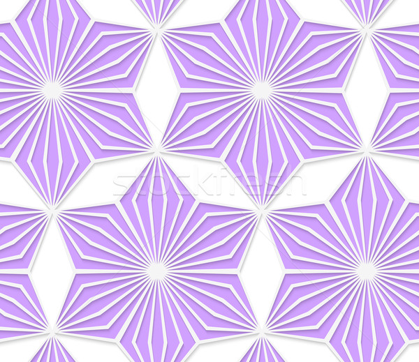 3D púrpura geométrico estrellas sin costura Foto stock © Zebra-Finch