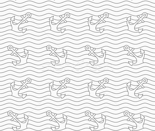 Gris ondulado líneas monocromo resumen geométrico Foto stock © Zebra-Finch