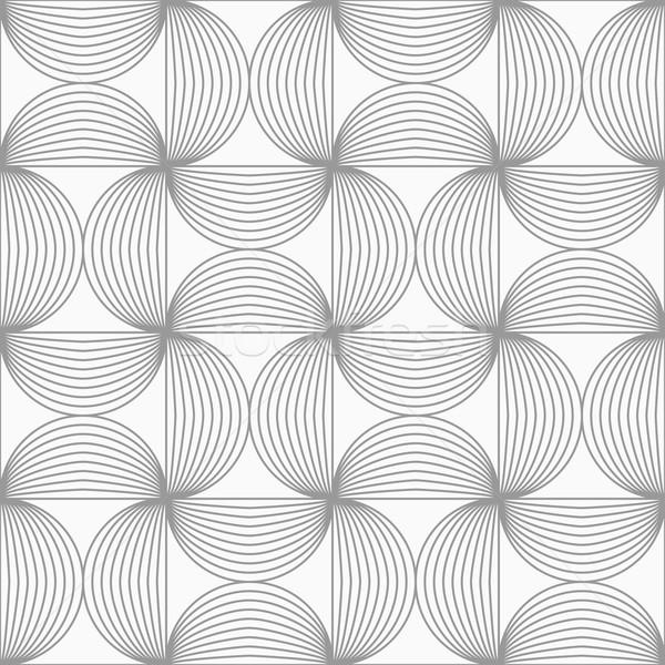 Slim gray striped semi circles Stock photo © Zebra-Finch