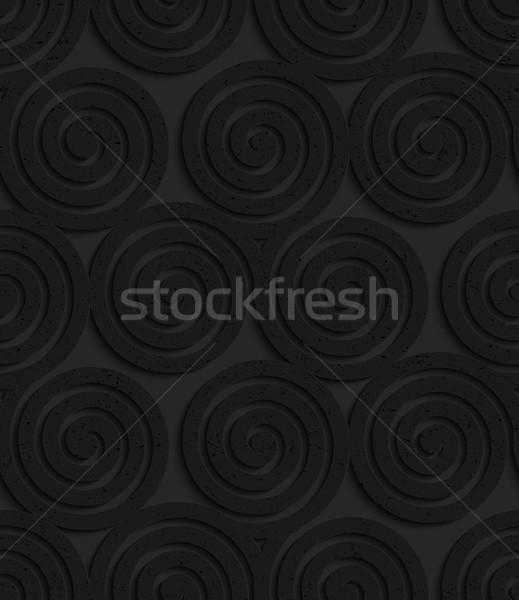 Textured black plastic three spirals Stock photo © Zebra-Finch