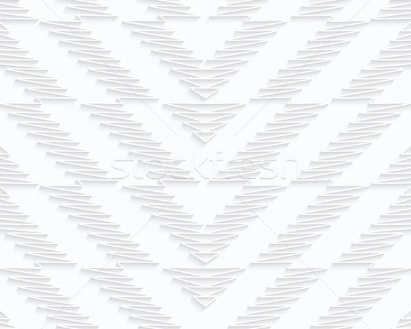 Quilling paper scribbled chevron Stock photo © Zebra-Finch