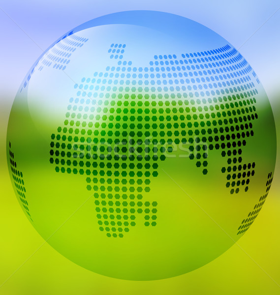 Earth with map on blurred landscape Stock photo © Zebra-Finch