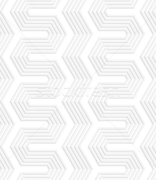 3D beyaz çizgili çit geometrik desen Stok fotoğraf © Zebra-Finch