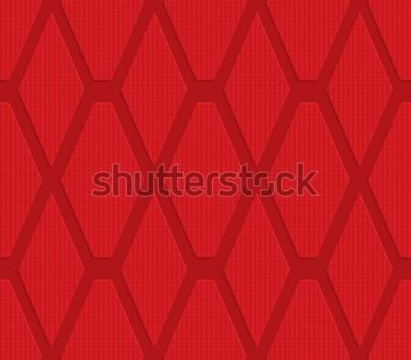 Kırmızı elmas geometrik 3D Stok fotoğraf © Zebra-Finch