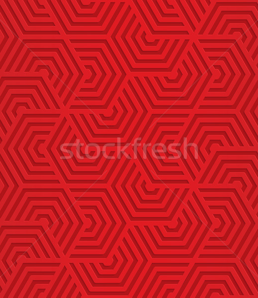 Red overlapping striped hexagons Stock photo © Zebra-Finch