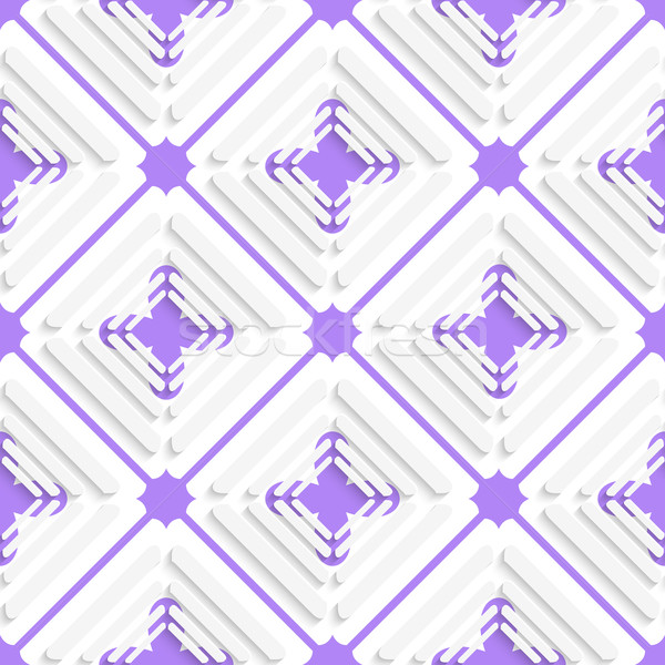Diagonal offset squares and purple net pattern Stock photo © Zebra-Finch