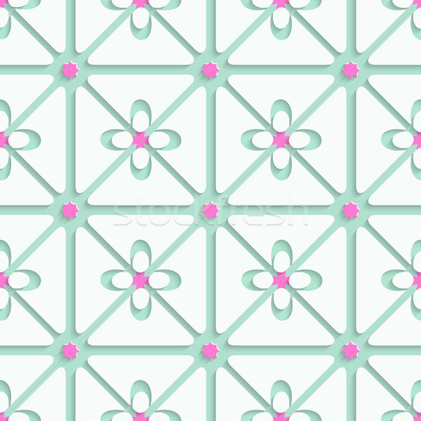 Green and pink flourish simple pattern Stock photo © Zebra-Finch