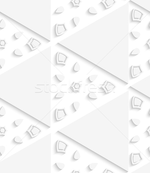 White triangular seamless pattern Stock photo © Zebra-Finch
