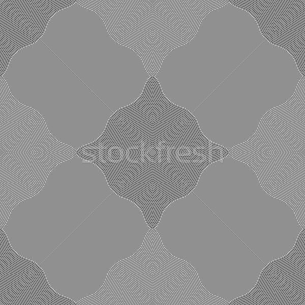 Monochrome pattern with gray wavy guilloche squares Stock photo © Zebra-Finch