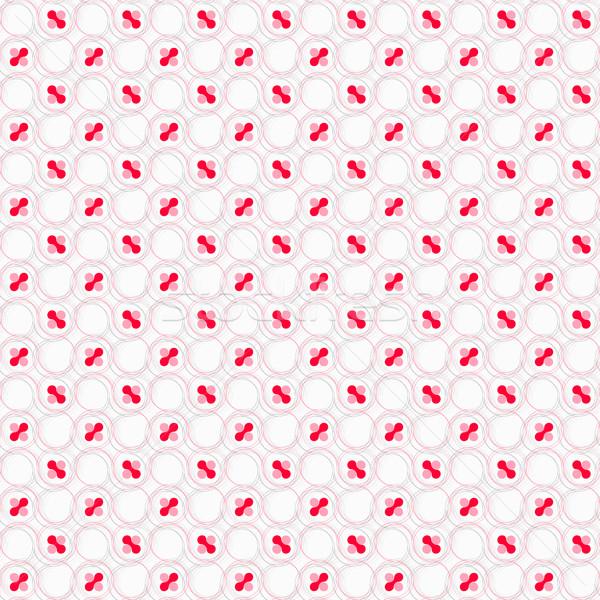 красный розовый волосатый Круги белый Сток-фото © Zebra-Finch
