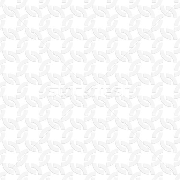 3D 白 四半期 サークル シームレス 幾何学的な ストックフォト © Zebra-Finch