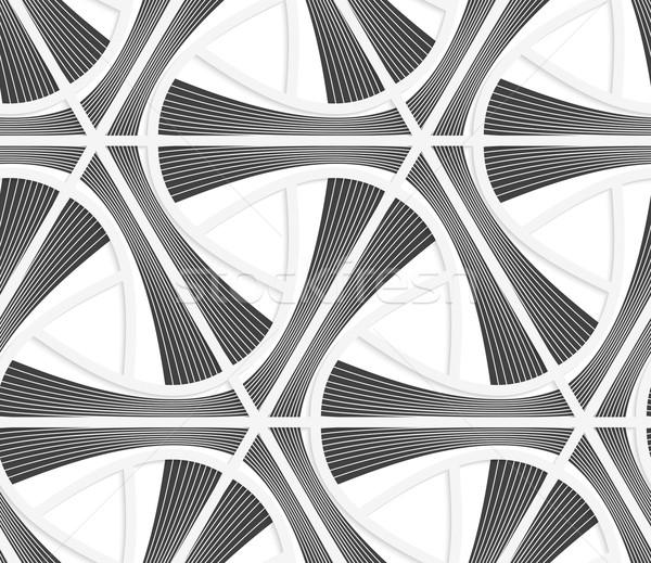3D グレー 縞模様の グリッド シームレス ストックフォト © Zebra-Finch