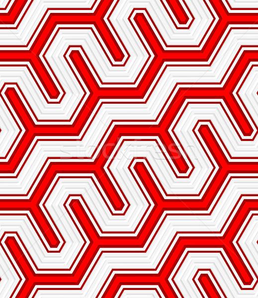 3D 赤 対角線 フェンス シームレス ストックフォト © Zebra-Finch
