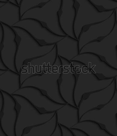 черный 3D аннотация волнистый цветочный форма Сток-фото © Zebra-Finch