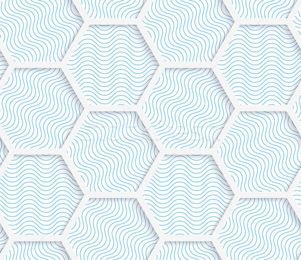 Biały 3D kolory sieci geometryczne wzór Zdjęcia stock © Zebra-Finch