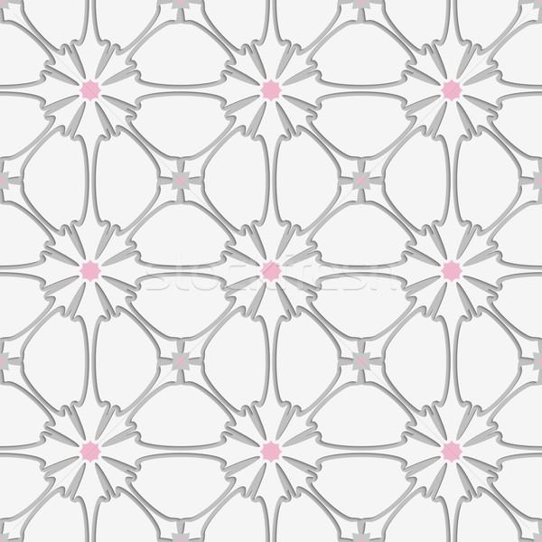 Branco florescer rosa telha ornamento abstrato Foto stock © Zebra-Finch
