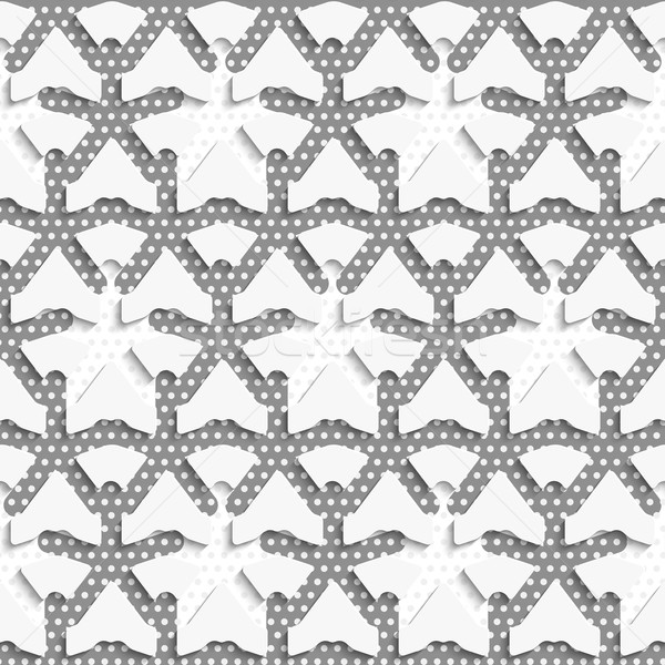 White 3d shapes on textured white and gray pattern Stock photo © Zebra-Finch