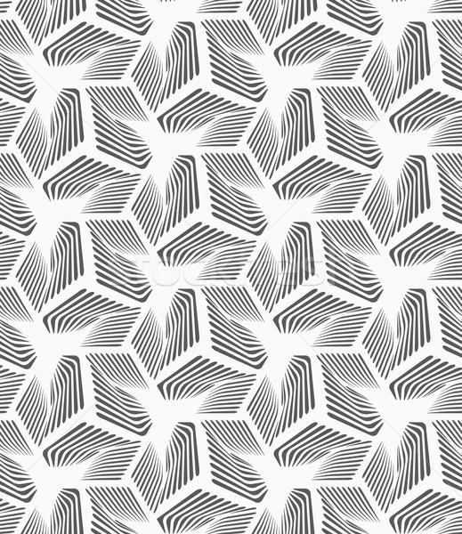 モノクロ 縞模様の 3  シームレス 幾何学模様 ストックフォト © Zebra-Finch