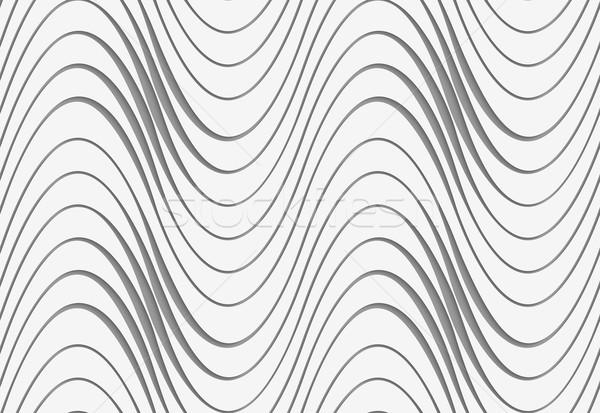 Onde irregolare moderno geometrica effetto Foto d'archivio © Zebra-Finch
