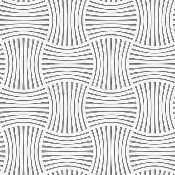 Stock photo: Perforated stripy grid