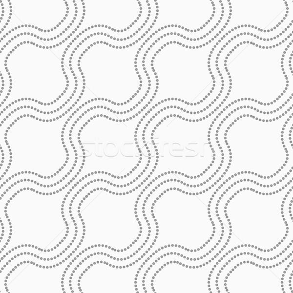 Pontilhado diagonal ondas abstrato geométrico monocromático Foto stock © Zebra-Finch