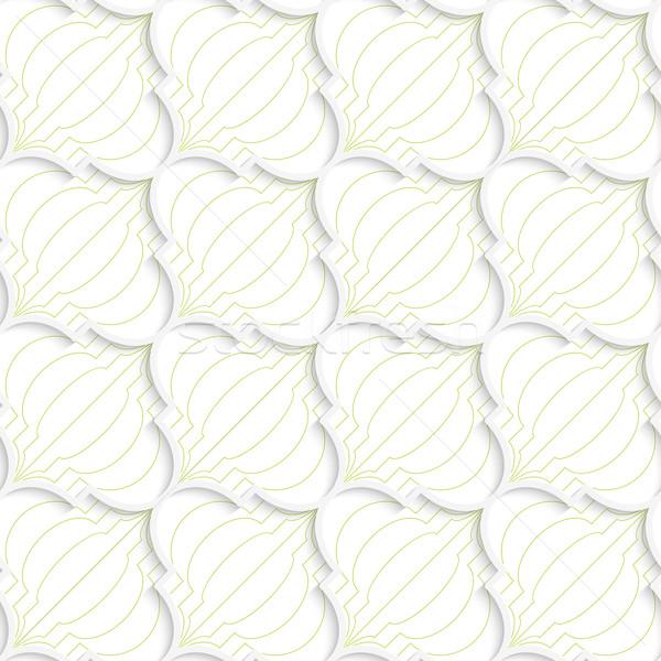 3D 緑 対角線 中国語 提灯 ストックフォト © Zebra-Finch