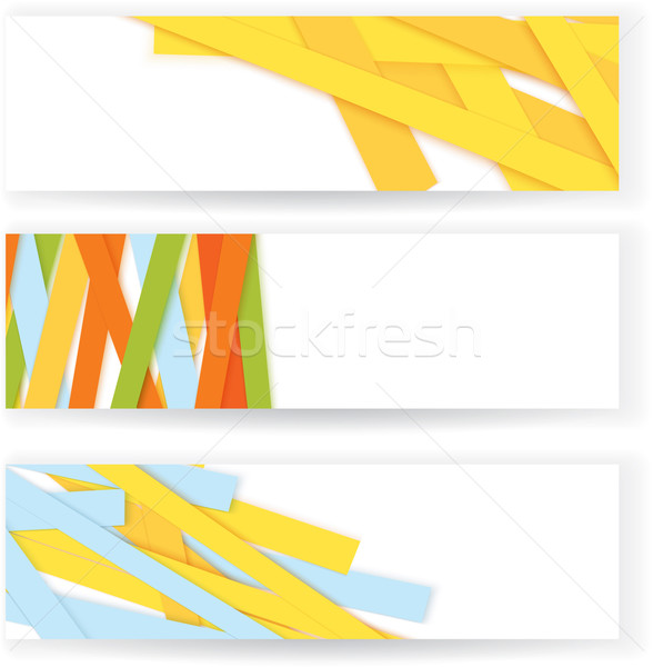 Shredded colorful paper banners vector Stock photo © Zebra-Finch