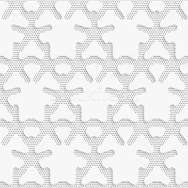Blue 3d shapes on textured white and black dots pattern Stock photo © Zebra-Finch