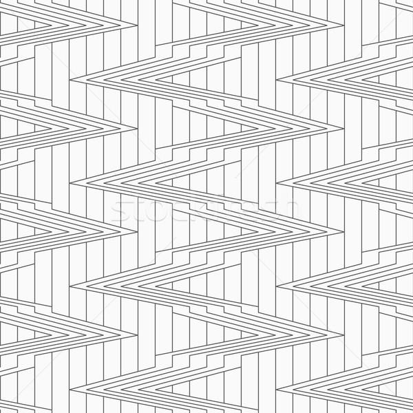 Gray corners on continues lines Stock photo © Zebra-Finch
