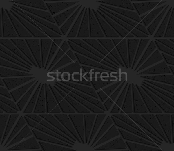 Fekete mintázott műanyag gyémántok vág absztrakt Stock fotó © Zebra-Finch