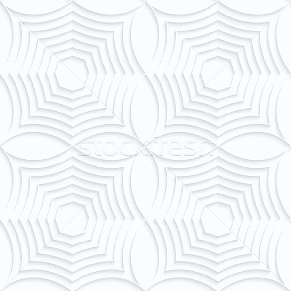 Biały papieru pasiasty pająk rząd geometryczny Zdjęcia stock © Zebra-Finch