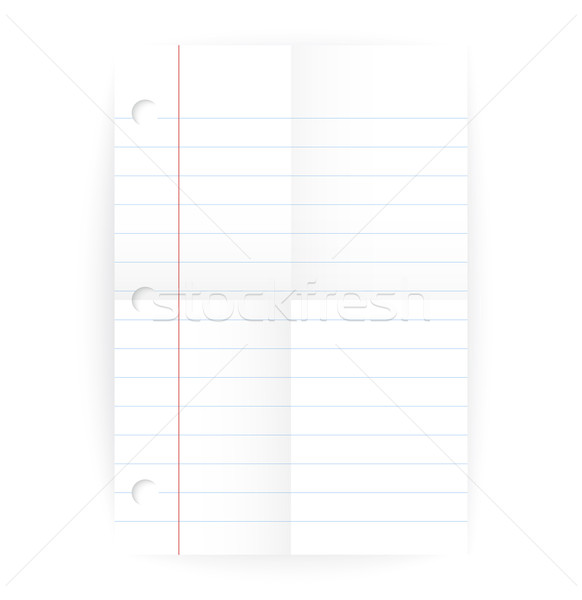 Vector notepad ruled blank page with folds Stock photo © Zebra-Finch