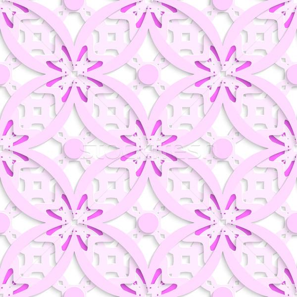 Różowy skomplikowany bezszwowy streszczenie 3D Zdjęcia stock © Zebra-Finch